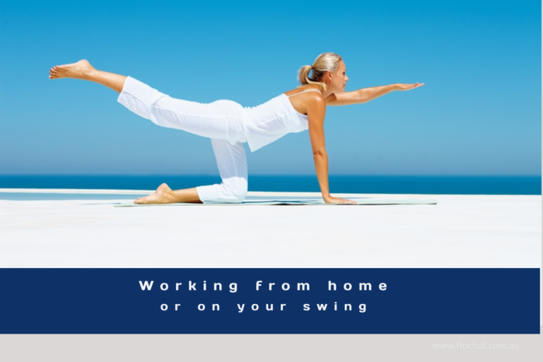 Working from home – or on your swing?